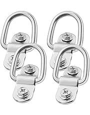 TooTaci - Juego de 10 anillos de amarre para remolque de anclaje forjado, anillo de amarre de montaje en superficie, capacidad de 1200 libras para un transporte seguro y seguro