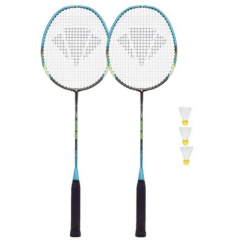 2 x Dunlop NanoMax Pro Badminton Rackets 3 Shuttles