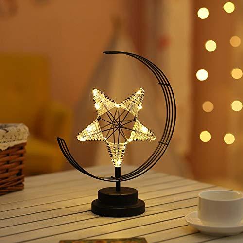 Chivalrylist LED bedlampje ster van ijzer Battuto Decoratie van ceremonie bruiloft lantaarn Kerstmis kaarsenhouder van ijzer romantisch