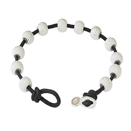 Golf Goddess Stroke/Score Counter Cord Bracelet - Black with Silver
