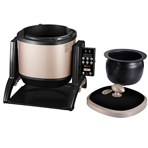 220V/50Hz Commercial&Household Multi Stir-Fry Cooker,3200W/6.4QT Multifunctional Drum-Type Cooking Machine,Automatic Electric Disher,Rice Soup Chinese Dishes Maker to Stew,Fry,Steam,Vaccuum.