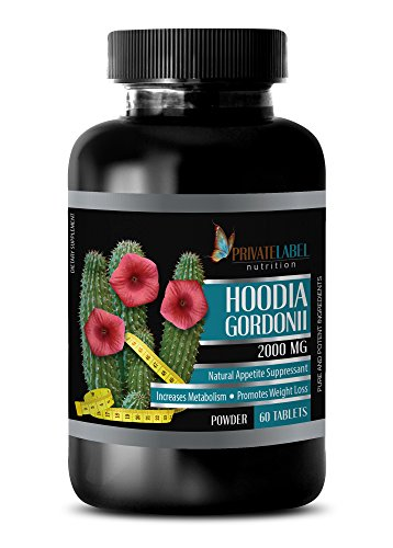 Weight Loss Appetite suppressant and Energy - HOODIA GORDONII 2000 MG - Promotes Weight Loss - hoodia Pills Ultra - 1 Bottle 60 Tablets