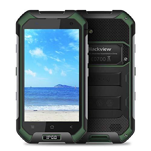 Teléfono Inteligente Blackview, teléfono de Doble Tarjeta BV6000 4G, IP68 a Prueba de Agua, cámara de 5.0MP + 13.0MP, batería de 4500mAh, teléfono Inteligente con Memoria Enorme de 32GB (Verde)