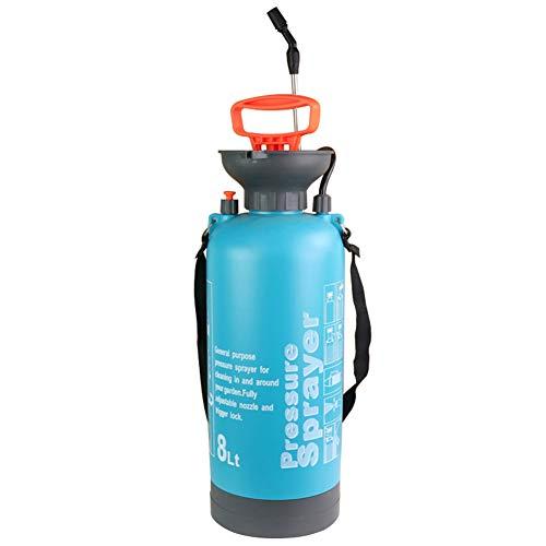 SJASD Mochila Pulverizar, Jardín Pulverizador A Presión, Presión Automática Botella Pulverizar, para El Hogar Limpieza Agrícola Herbicida Insecticida,Azul,8L(2)
