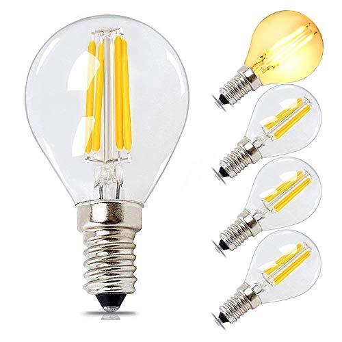 E14 LED Vintage Golfball Birne Dimmbar 4W, 40W Äquivalent, Weiches Warmes Weiß 2700K 400lm, SES Filament Mini Globe Marqueen Birne, G45 Kronleuchter Glühbirnen, Schlafzimmerbirnen von BRIMAX, 4er Pack