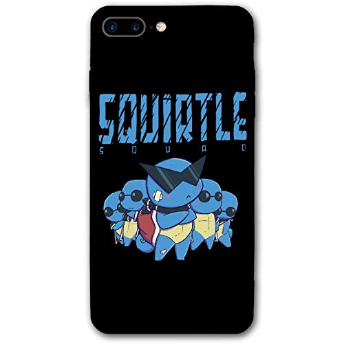 Leonsense Squirtle Squad Custodia per Telefono Nera Compatibile con iPhone 12/12Pro Max 11 11 PRO Max XR XS SE 2020/7/8 6/6s Plus Samsung Huawei LG Caso