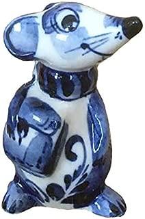 Sweet & Beauty Symbol of The Year 2020 Exclusive Gzhel Souvenir Сlerk Porcelain Hand Painted, 4''