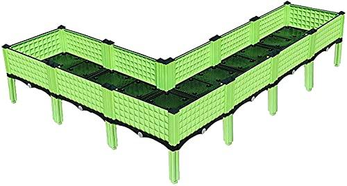 Camas de jardín para verduras Jardinera elevada para exteriores, hortalizas, flores, contenedor de cultivo, orificio de drenaje, orificios de ventilación, cama de jardín elevada con patas, contenedor