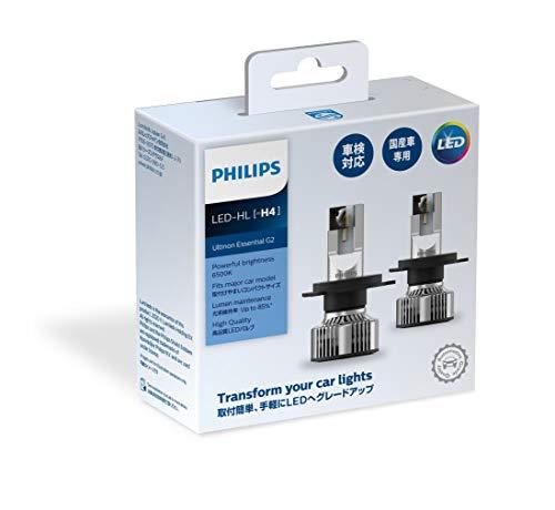 フィリップス ヘッドライト LED H4 6500K アルティノンエッセンシャル 車検対応 PHILIPS UltinonEssential 11342UE2X2