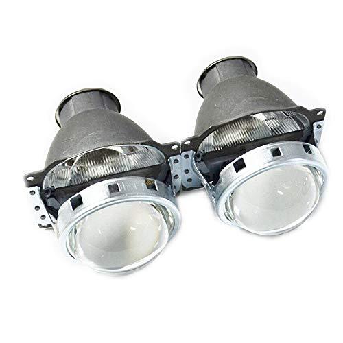 Nrpfell 3.0 Pulgadas Q5 H7 HID Xenon LED Faro Bi Xenon Lente de Proyector de Metal Completo para Coche Styling Cabeza LáMpara de Luz Lentes