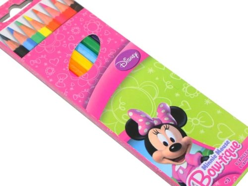SET 8 CRAYON DE COULEUR MINNIE DISNEY PAPETERIE