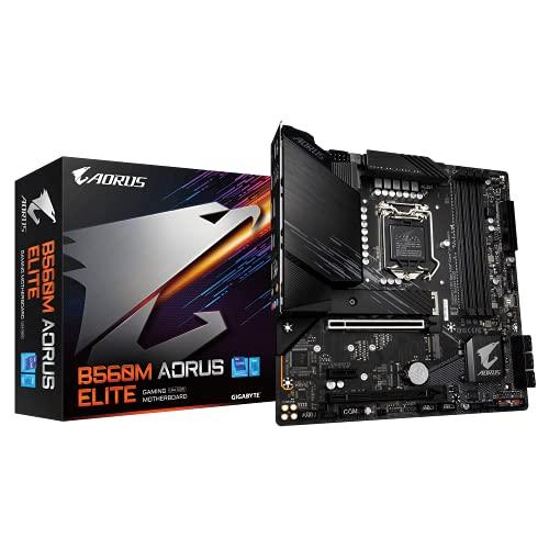 Gigabyte B560M AORUS Elite Carte mère Micro ATX pour processeur Intel LGA 1200