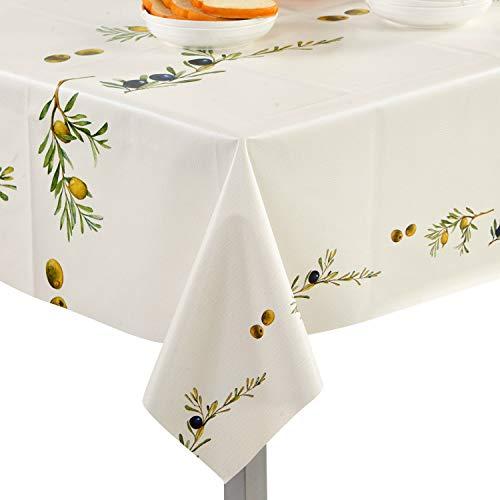 Topmail Nappe de Table Rectangulaire Imperméable en 100% PVC Nappe Tissu  Anti-Taches Résistante à l\' Huile pour Table à Manger Hôtel Sallon Jardin  ...