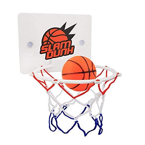 Xuebai Los niños Mini Baloncesto Aro Juguetes Chupar Montado en Pared Soporte con Bomba Deporte Juguete Set