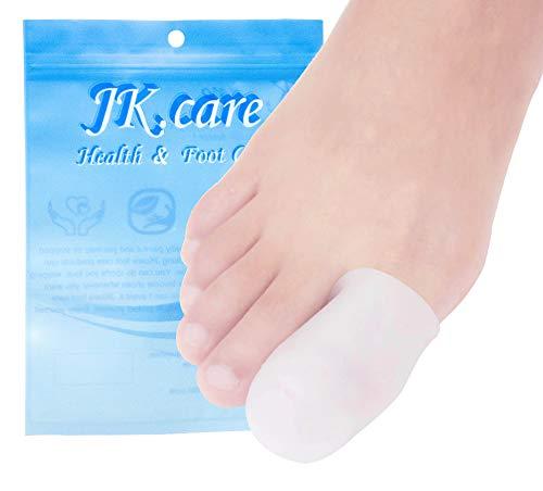 JKcare 10 Pack Big Toe Caps Protectors, Gel Toe Covers - Cushion for Corns, Calluses, Blister, Ingrown Toenail and Reduce Friction