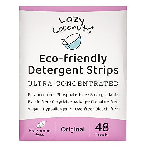 Lazy Coconuts Eco Friendly Laundry Detergent Strips - Fragrance Free,...