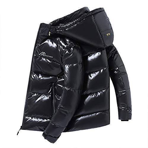 Shiny Fabric Daunenjacke Herren Top Qualität Weiße Ente Dick Winter Warmer Parka Wasserdicht Plus Size 4XL Mfor165Cm50Kg Schwarz