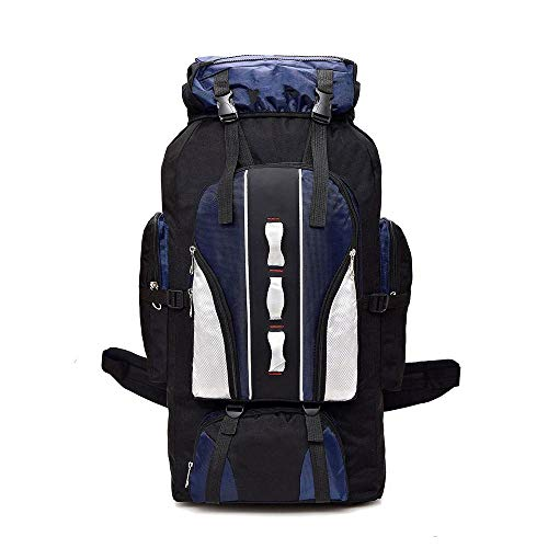 ZHEBEI 100L large capacity mountaineering backpack outdoor sports backpack Darkblue