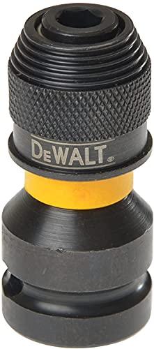 DeWalt DT7508-QZ DT7508-QZ-Adaptador para Llaves de Vaso de Impacto de 1/2' a 1/4', Amarillo/Negro, 5.1 cm