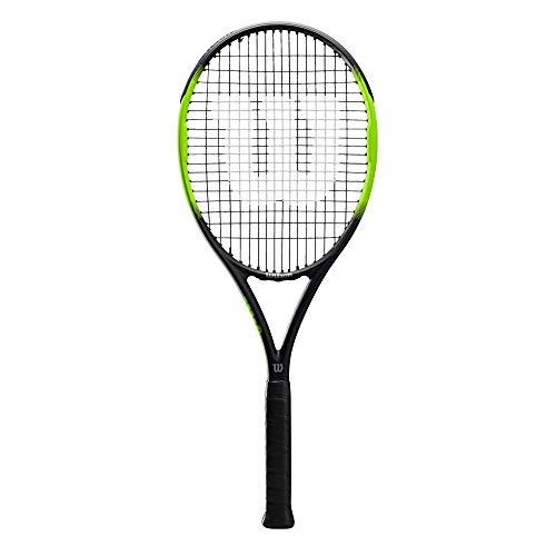 Wilson Blade Feel 105, WR018710U3 Racchetta da Tennis, Tennisti Amatoriali, Fibra di Vetro e Alluminio, Nero/Lime, Manico 3