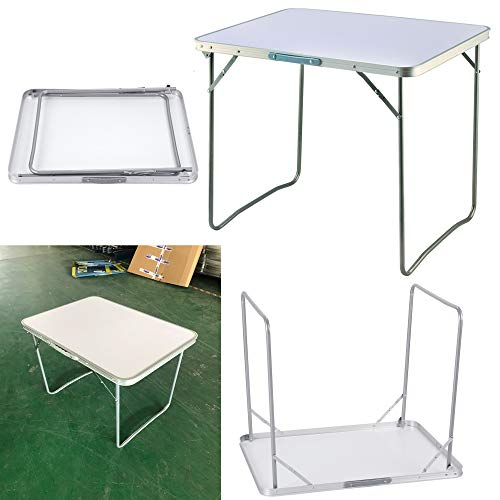 PowerTools Foldable Table,Folding Camping Table Aluminum Multifunction Outdoor Indoor Use for Travel Camping Table Picnic Party Kitchen Garden BBQ - Size:80x60x69cm