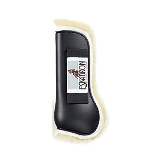 ESKADRON Protection Boots Lammfell Gamaschen, schwarz, Warmblut