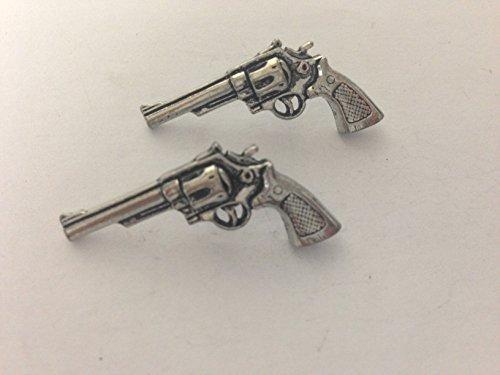 G12 moderne Revolver boutons de manchette Boutons de manchette étain anglais est livré avec un emballage prideindetails fabriqué en Sheffield