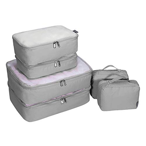 G4Free 6 pcs Packing Cubes Organizador de Embalaje de Bolsa