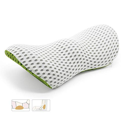 N/G Memory foam car seat lumbar pillow, relief and prevention, sciatica, intervertebral disc pain (blue)
