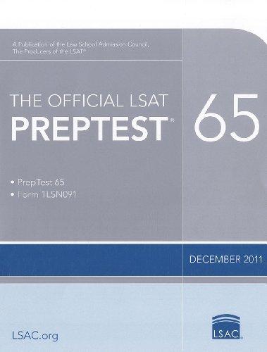 Download The Official LSAT PrepTest 65: (Dec. 2011 LSAT) 098463603X
