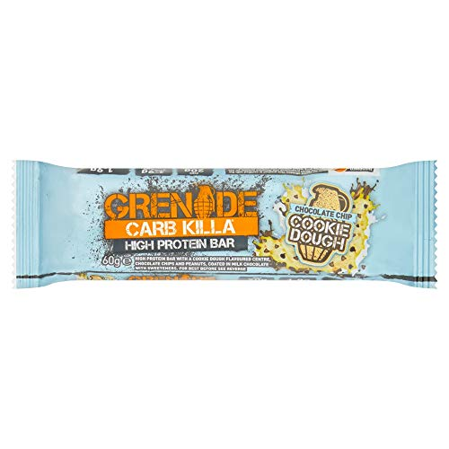 Grenade Carb Killa High Protein Bar Chocolate Chip Cookie Dough, 60 g