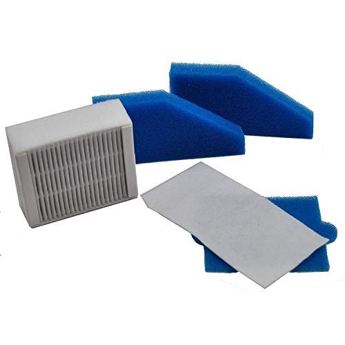 L-Yune, 1set Filter Set Geeignet for Staubsauger Thomas Aqua + Multi Clean X8 Parkett, Aqua + Pet & Familie, perfekte Luft Tier Pur (Farbe : Blue and White)