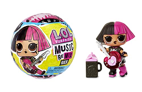 LOL Surprise OMG Remix Rock Muñecas con 7 sorpresas que incluyen 1 outfit, zapatos, instrumento musical y accesorios - Para coleccionar - Para niños