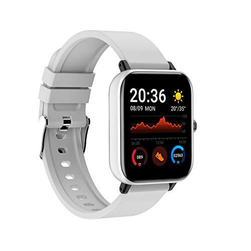 WEEA Reloj inteligente P8 para hombre y mujer, con monitor de presión cardíaca, resistente al agua IP67, pantalla táctil