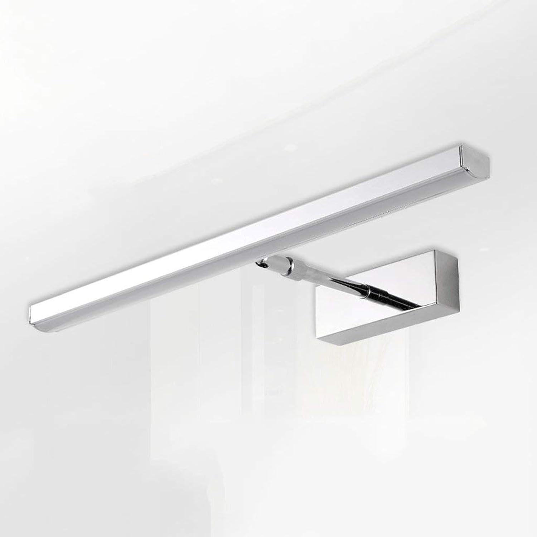 Scofeifei WTL Lighting LED Edelstahl Spiegelleuchte modernes, minimalistisches Badezimmer Badezimmer skalierbare Spiegel Lichter (Farbe  Wei-6w45cm) (Farbe   Weiß-6w45cm)