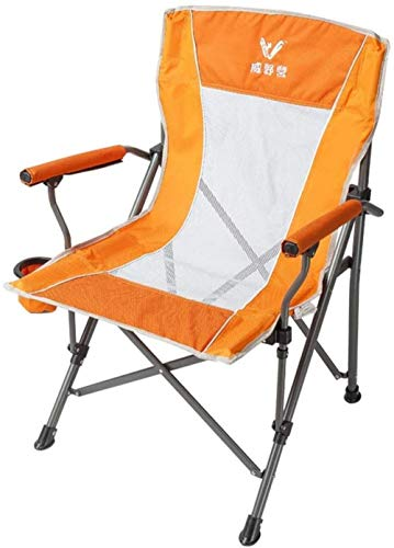 GBLight Sun Lounger Folding and Folding Chairs for Trekking Backpack with Kayak Bag Fishing Hiking Picnic Concerts on The Beach Outdoor Activities (Color : Orange)