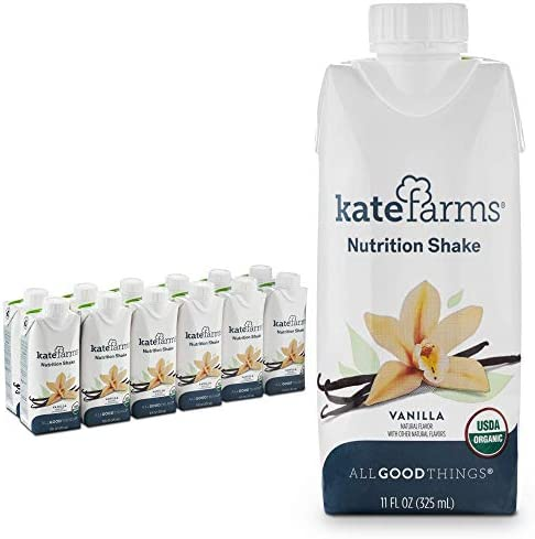 Kate Farms Organic Nutrition Shake Vegan Protein Shakes Nutrient Dense Meal Replacement Drinks product image