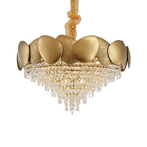 Luce Plafoniera 600mm * 400mm E14 Nordic Post-modern Lámpara de cristal de acero inoxidable Sala de estar Dormitorio Artista Con Villa Araña de luces