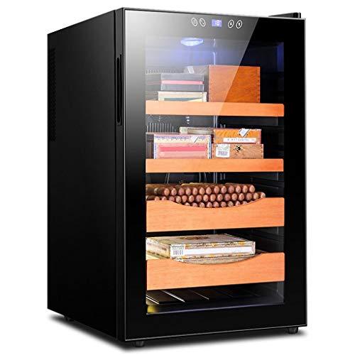 Caja de cigarros, cigarro electrónico Gabinete Doble Núcleo Refrigeración Inteligente de Control de Temperatura hidratante Armario congelador té Gabinete 2 Color Opcional (Color : A)