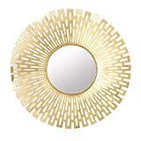 ESPEJOS Redondo Veneciano de la Pared del Metal del Resplandor Solar único único 3D, Oro, 82 X 82cm JING1113