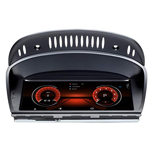 Navigatore GPS Android 10 per autoradio compatibile per BMW Serie 3 Serie 5 E90 E60 2005-2008 Sistema CCC 8 Core 4 GB RAM 128 GB ROM con sistema iDrive mantenuto Touchscreen da 8,8 pollici Support