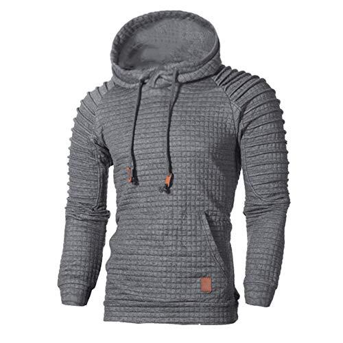 BTMING 2020 suéteres Hombres sólidos Jerseys Casual Moda Hombre suéter con Capucha suéter otoño Invierno cálido pullfemme Slim fit brots (Color : Dark Grey, Size : 4XL)