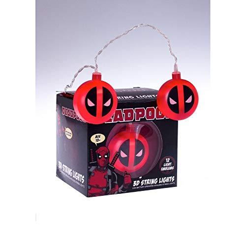 Marvel Deadpool Logo 3D String Lights