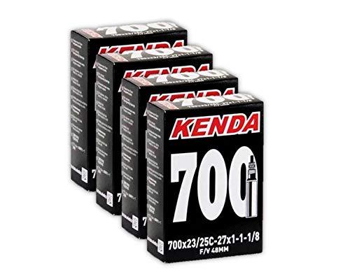 """FOUR 4 PACK 700x25-30/"""" 60mm New 700x25-30c Road Bike Inner Tubes Kenda"""