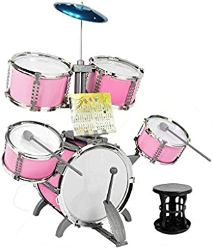 LINGLING-Trommel Drum Instrument Spielzeug Kindertrommel Percussion Anf er Simulation Doppelseitig (Farbe   Rosa)