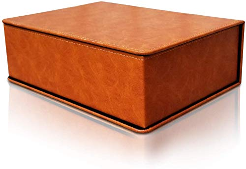 Groomsmen Proposal Gift Box with Lid, Luxury Storage Box, Decorative Boxes with Lids for Gifts, Faux Leather Box