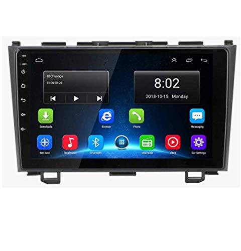 Android 8.1 Navegación GPS Auto Radio 9' 1080P HD Touch Screen Stereo TV para Honda CR-V 2007-2011 con Bluetooth Hands-Free Calls Mirror Link DAB USB MP5 SWC 8Cores:4G + WiFi 4G + 64G