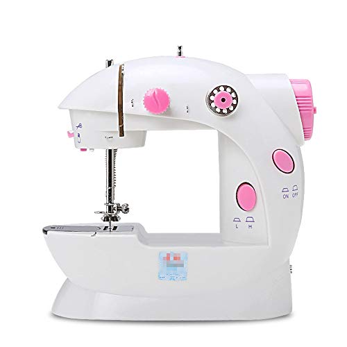 Lowest Prices! Home Sewing Machine Portable Sewing Machine Mini Sewing Machine With Adjustable 2-Spe...