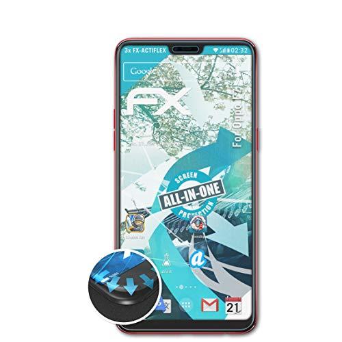 atFolix Schutzfolie kompatibel mit Oppo F7 Folie, ultraklare & Flexible FX Bildschirmschutzfolie (3X)