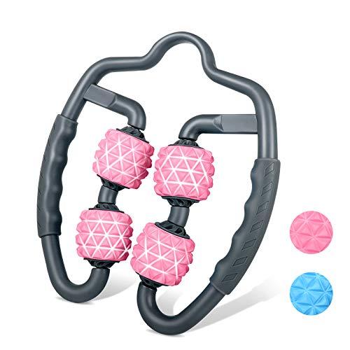 TTMOW Muskel Massageroller,360 °Massage Roller Multifunktionaler Handgehaltener Schaumstoffstab Triggerpunkt Massagerolle für Unterarm,Ellbogen,Bein